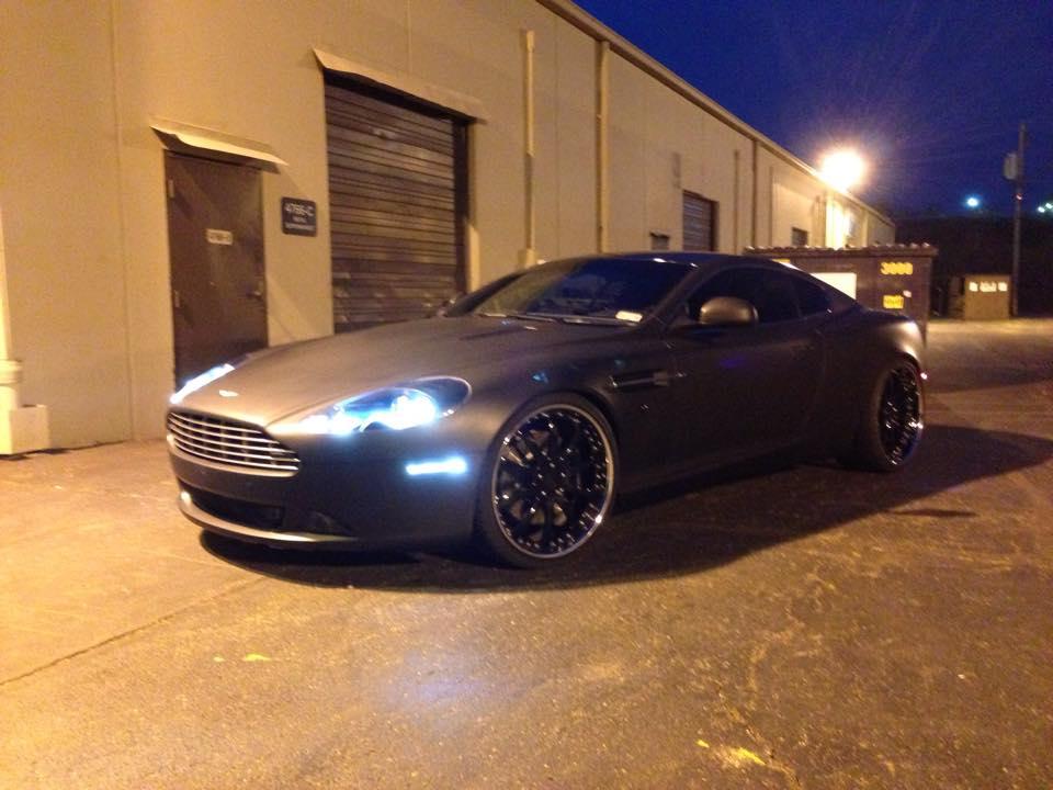 Aston Martin Db9 Matte Black Wrap Vivid Wraps