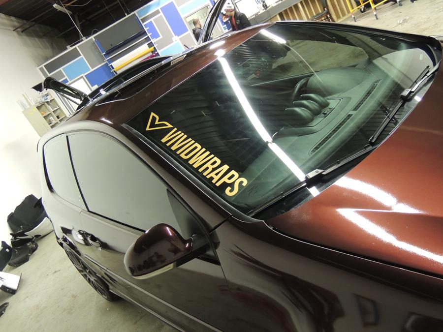 Volkswagen Golf GTI Gloss Black Rose Vinyl Wrap - Vivid Wraps